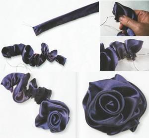 цветок из ленты своими руками