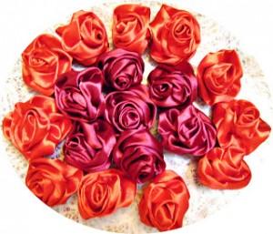 цветы из ленты своими руками