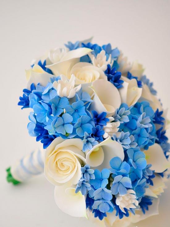 Нежность синего в свадебном букете
