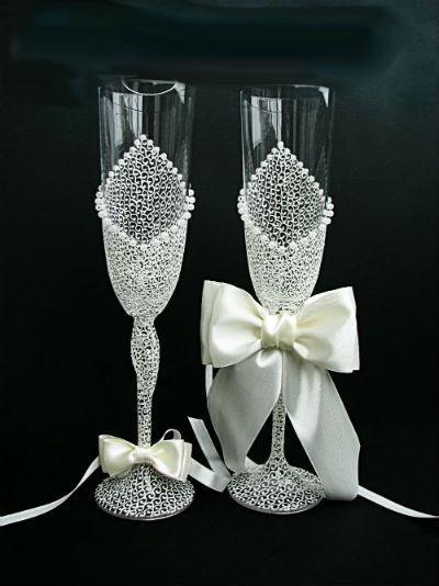 Бокалы своими руками для свадьбы видео