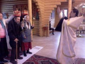 Церемонию венчания