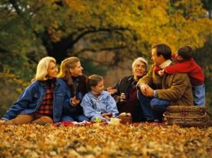 Пикник с семьей.