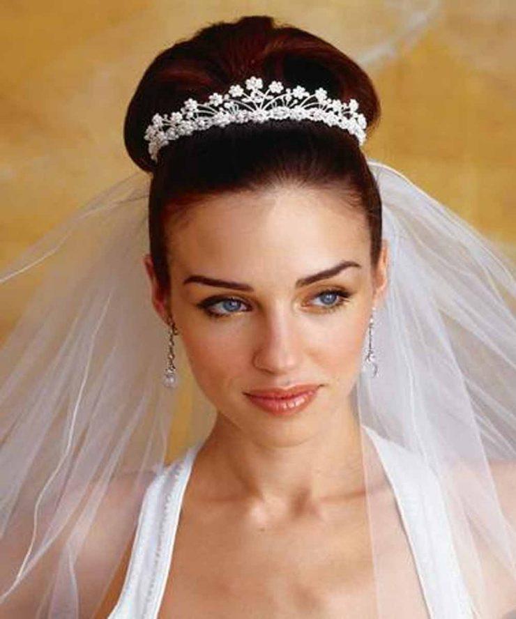 диадемные свадебные прически 2007 года